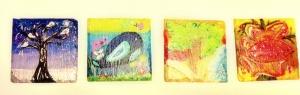 4 Seasons Slate Coasters for sale On Etsy