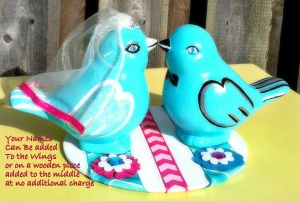 Tiffany Blue Love Bird Cake Topper-for Sale on Etsy